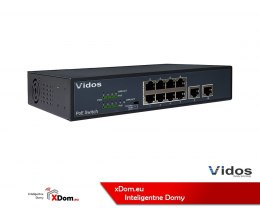 Vidos wideodomofon IP PS82/120 SWITCH POE 8 PORTOWY
